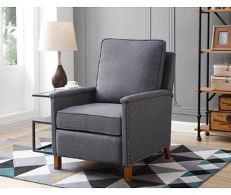 Three Posts Gloria Manual Recliner Upholstery Color: Licorice