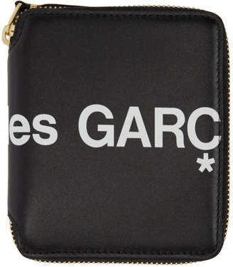 Comme des Garcons Wallets Wallets Black Huge Logo Wallet