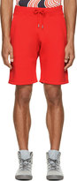 Christopher Kane Red Fleecy Shorts