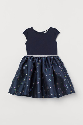 H&M Dress with Flared Skirt - Blue