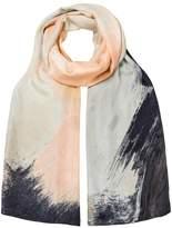 Oliver Bonas Pigment Print Silk Scarf