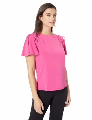 Ellen Tracy Women's Top with Rouched Sleeve Detail