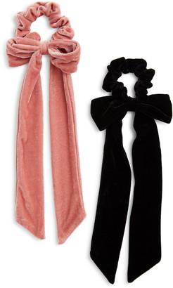 Lulus 2-Pack Scrunchie Bow Set