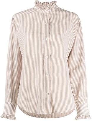 Etoile Isabel Marant Saoli ruffled-neck shirt