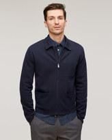 Cotton Milano Knit Zip Jacket