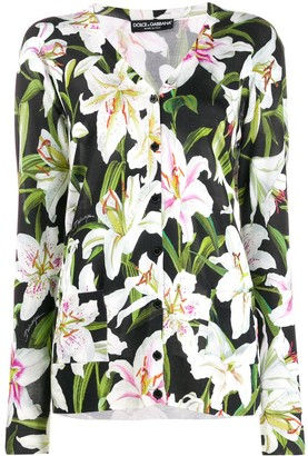 Dolce & Gabbana floral print cardigan