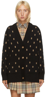 Burberry Black Jacquard Monogram Cardigan