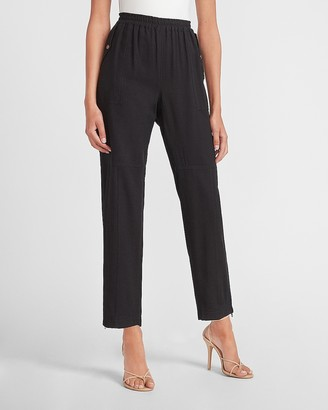 Express High Waisted Zip Ankle Utility Jogger Pant