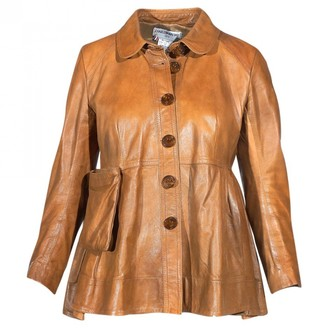 Charles Anastase Brown Leather Leather Jacket for Women