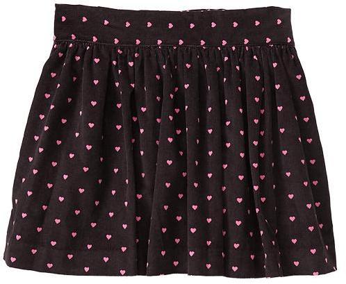 Gap Heart cord skirt