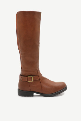 Ardene Knee High Stretch Back Boots - Shoes |