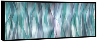 Chic Home Design Blue Flames 1Pc Framed Wrapped Canvas Wall Art