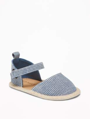 Old Navy Chambray Railroad-Stripe Espadrilles for Baby