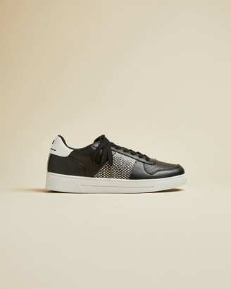 Ted Baker Embossed Snake Effect Trainers