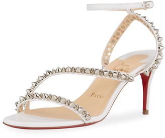 Christian Louboutin Mafaldina Spike Red Sole Stiletto Sandals
