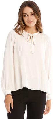 Basque Pleated Blouse