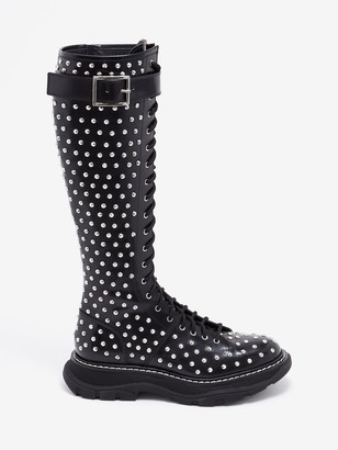 Alexander McQueen Tread Lace Up Boot
