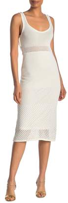 Rachel Roy Perforated Open Back Knit Dress