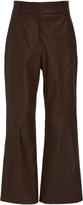 Tibi Cropped Leather Pants