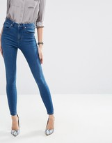Asos 'Sculpt Me' High Rise Premium Jeans in Cedar Wash
