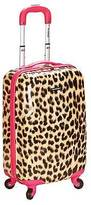 "Rockland Sonic 20"" Carry On Luggage Set - Pink Leopard"
