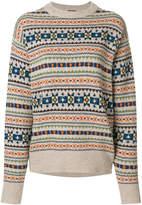 Joseph Fair Isle knit double-back sweater