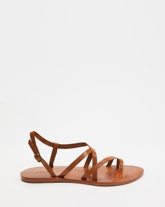 Atmos & Here Atmos&Here - Women's Brown Strappy sandals - Rita Leather Sandals - Size 6 at The Iconic