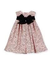 Helena Sleeveless Polka-Dot Shift Dress, Pink/Black, Size 12-18 Months