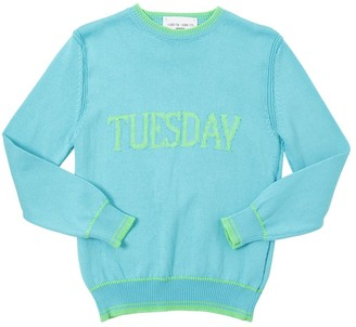Alberta Ferretti Tuesday Intarsia Cotton Knit Pullover