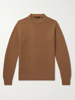 Loro Piana Ribbed Cashmere Sweater - Men - Brown
