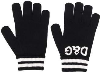 Dolce & Gabbana logo intarsia gloves