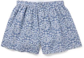 Sunspel Floral-Print Cotton Boxer Shorts