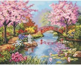 """Dimensions Paint By Number Kit - Japanese Garden (16x20"""")"""