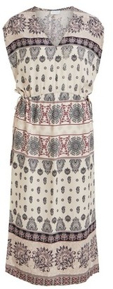 Dorothy Perkins Womens **Vila Multi Coloured Paisley Print Shift Midi Dress