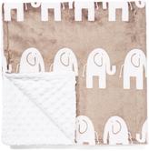 30'' x 30'' Truffle Elephant Fun Minky Stroller Blanket