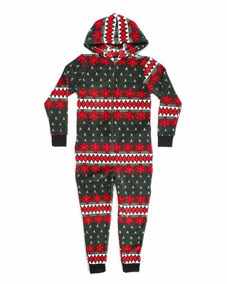 Joe Boxer Big Boy's Winter Fresh Onesie Sleepwear