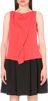 Armani Collezioni Draped stretch-silk top