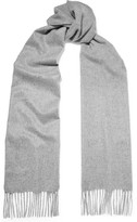 Johnstons of Elgin Fringed Cashmere Scarf - Gray