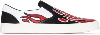 Amiri Flame Applique Slip-On Sneakers
