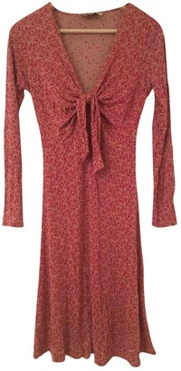 Allude Red Silk Dress for Women