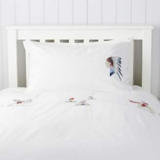 The White Company Cowboy Brave Bed Linen, White, Cot Bed