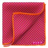Thomas Pink Arctic Fox Print Pocket Square
