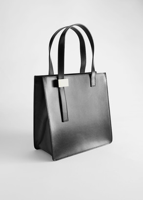 And other stories Chrome Free Tanned Leather Tote Bag