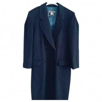 Burberry Navy Cashmere Coats