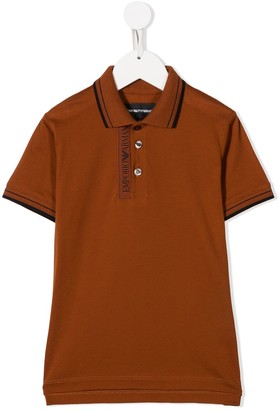 Emporio Armani Kids Embroidered Logo Polo Shirt