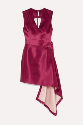 Peter Do - Asymmetric Hammered-satin Dress - Pink