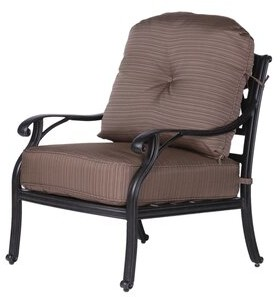 Germano Darby Home Co High Back Club Patio Chair with Cushion Darby Home Co