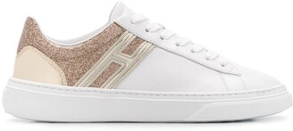 Hogan sparkle detail sneakers