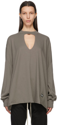 Rick Owens Taupe Eclipse Long Sleeve T-Shirt
