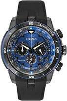 Citizen Eco-Drive Mens Blue Dial Chronograph Watch CA4155-12L